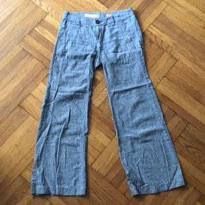 Pilcro and The Letterpress Bootcut linen pants